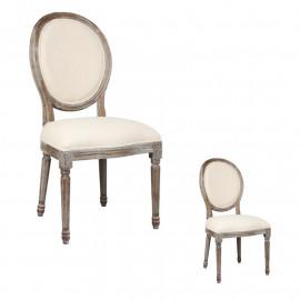 Duo de chaises Louis XVI Tissu - LONSOUI