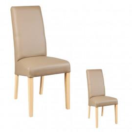 Duo de chaises Similicuir Taupe - KABUN
