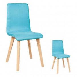 Duo de chaises Similicuir Turquoise - VALONTE