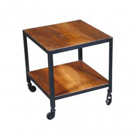 Bout de canapé en bois sur roulettes - VERDEN