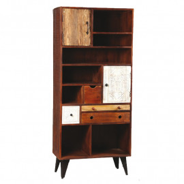 Bibliothèque 2 portes, 4 tiroirs en bois de Palissandre - DENVER