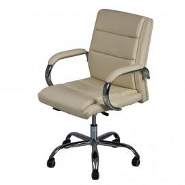 Chaise de bureau Simili cuir Beige - CIALIS n°1