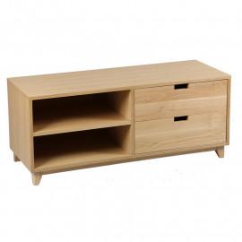 Meuble TV 2 tiroirs 2 niches Bois chêne - TAQUIN
