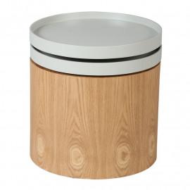 Bout de canapé Bois/Gris - KLIFS