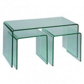 Tables de salon 2 gigognes Verre - NACLE