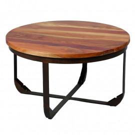 Table basse ronde Métal/Bois - NOTS