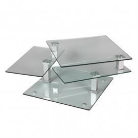 Table basse en verre carrée - DRAQUA