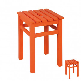 Duo de Tabourets carrés Orange - SALT