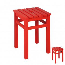 Duo de Tabourets carrés Rouge - SALT