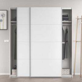 Armoire 2 portes coulissantes Blanc brillant - COPIST
