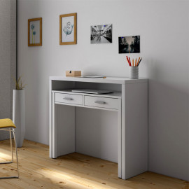 Console bureau extensible Blanc - NIAL