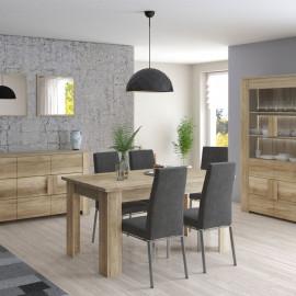 Table de repas rectangulaire 160 cm à allonge Chêne blond - FRUITA