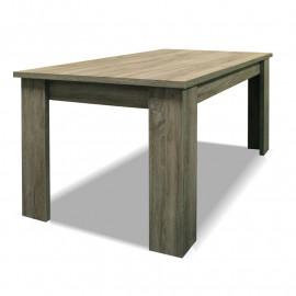 Table de repas rectangulaire 160 cm Chêne blond - DOINIO