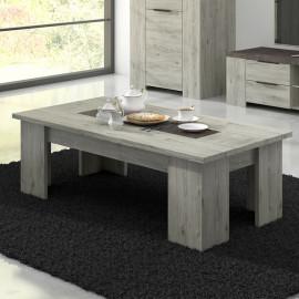 Table basse rectangulaire Bois gris/Béton - RIUCKO