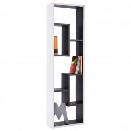 Bibliothèque 5 niches Noire et Blanche- ALAK N°1