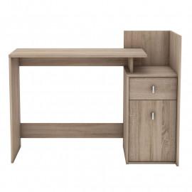 Bureau 1 porte 1 tiroir Chêne brossé - LEVINAS