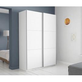 Armoire 2 portes coulissantes Blanche 150 - GELA