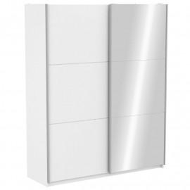 Armoire avec miroir Blanc 180 cm - GELA