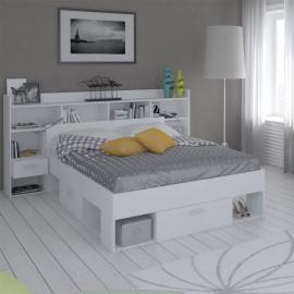 Lit extensible 140x190/200 Blanc - ARA