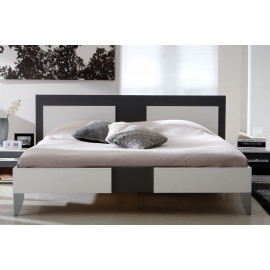 Lit 160x200 Blanc/Gris - KEAMERS