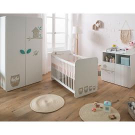 Chambre bébé complète mixte 60x120 - CHOUETTE