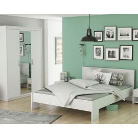 Chambre adulte complète Blanc mat - DOMATIO