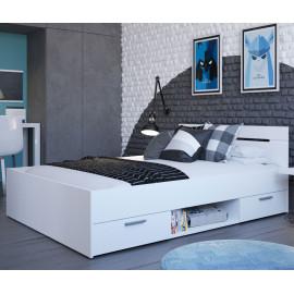 Lit 160x200 Blanc mat - MUKANA