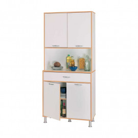 Buffet de cuisine 4 portes 1 tiroir Blanc - BUZZIA