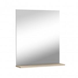 Miroir de SDB avec tablette Chêne beige - GUTA
