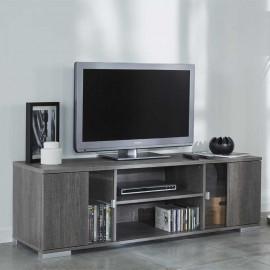 Meuble TV 2 portes 1 niche Chêne Noisette - ROYAN