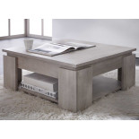 Table basse carrée Chêne Beige - TOULOUSE
