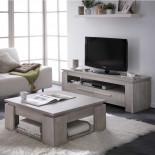 Meuble TV 2 tiroirs Chêne Beige - TOULOUSE