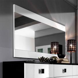 Miroir rectangulaire Blanc laqué - ZEME