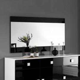 Miroir rectangulaire Noir laqué - ZEME