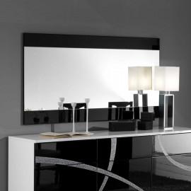 Miroir rectangulaire Noir laqué - CROSS