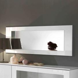 Miroir rectangulaire laqué blanc - POTIRI