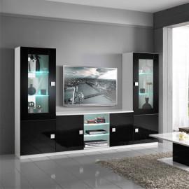 Composition TV Noir/Blanc à LEDs - ZEME