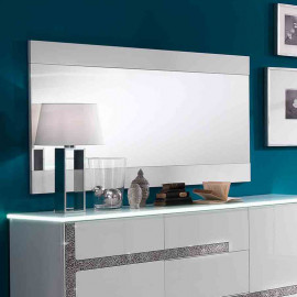 Miroir rectangulaire Blanc laqué - CRAC
