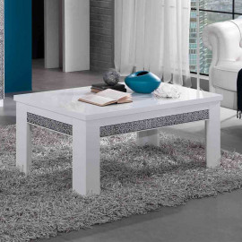 Table basse rectangulaire laqué Blanc - CRAC