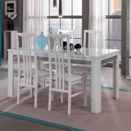 Table de repas rectangulaire laqué Blanc - CRAC
