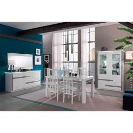 Salle à manger complète Blanc à LEDs - CRAC
