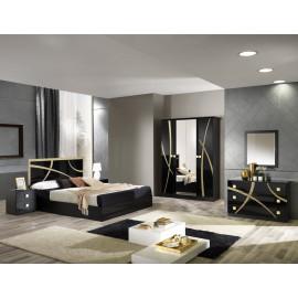 Chambre complète 160*200 Noir/Or - CROSS
