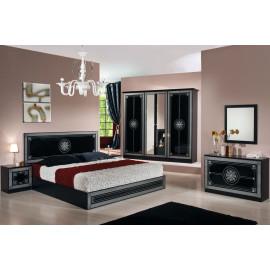 Chambre complète 160*200 Noir/Gris - HURFA