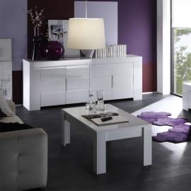 Table basse laqué Blanc brillant - FATISCA