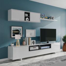 Composition TV Blanc/Noir brillant - IRVINE