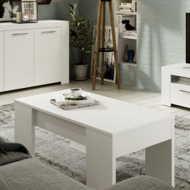 Table basse relevable Blanc mat - RUYRUY