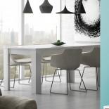 Table de repas à allonge Blanc brillant - OXNARD