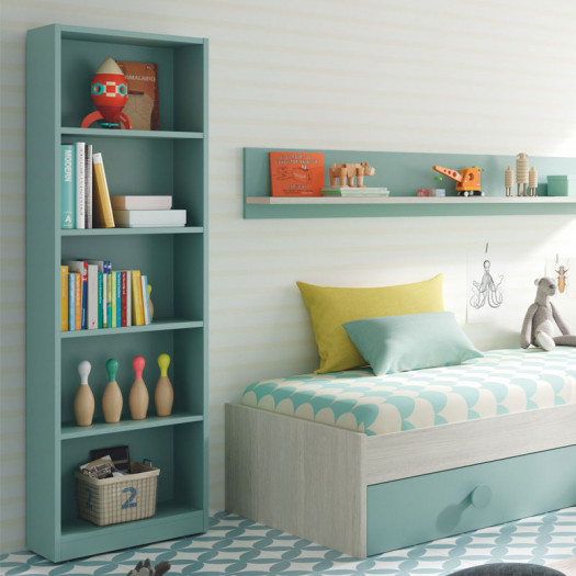 Bibliothèque 5 niveaux Turquoise - DESKOU