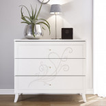 Commode 3 tiroirs Blanc - LADY