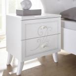 Table de chevet 2 tiroirs Blanc - LADY
